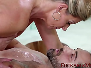 BIg ass mammy is nailed in the bathroom